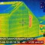 Wandaufbau mit Thermografie